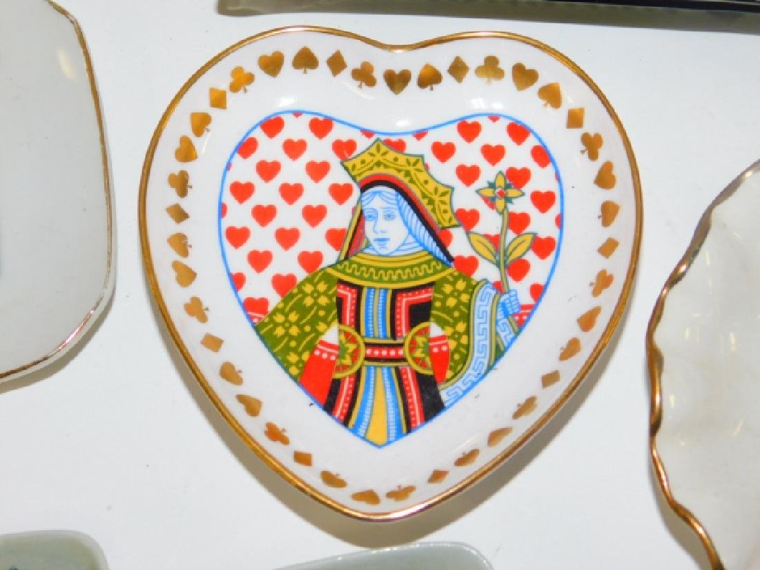 COLLECTION OF PLAYING CARD DISHES - 4