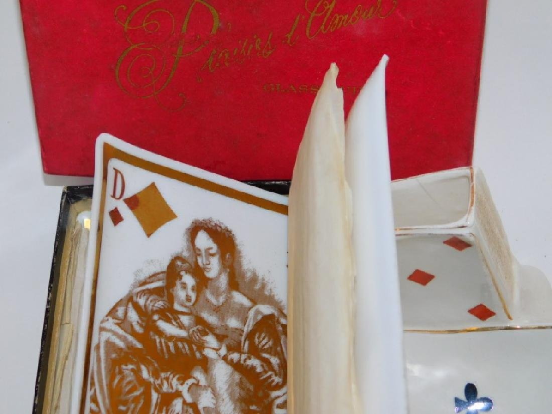 COLLECTION OF PLAYING CARD DISHES - 5