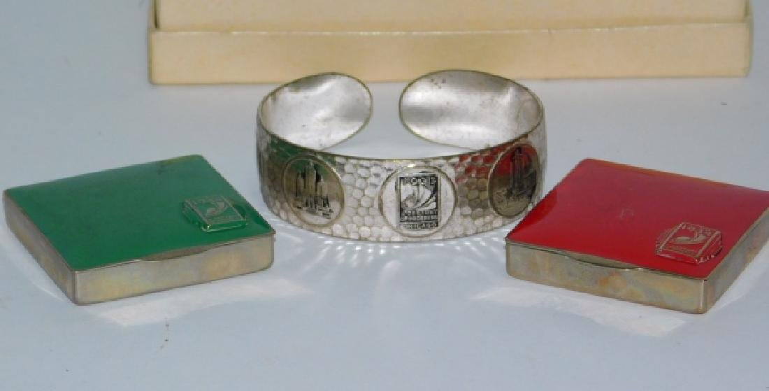 A CENTURY OF PROGRESS CUFF BRACELET & COMPACTS