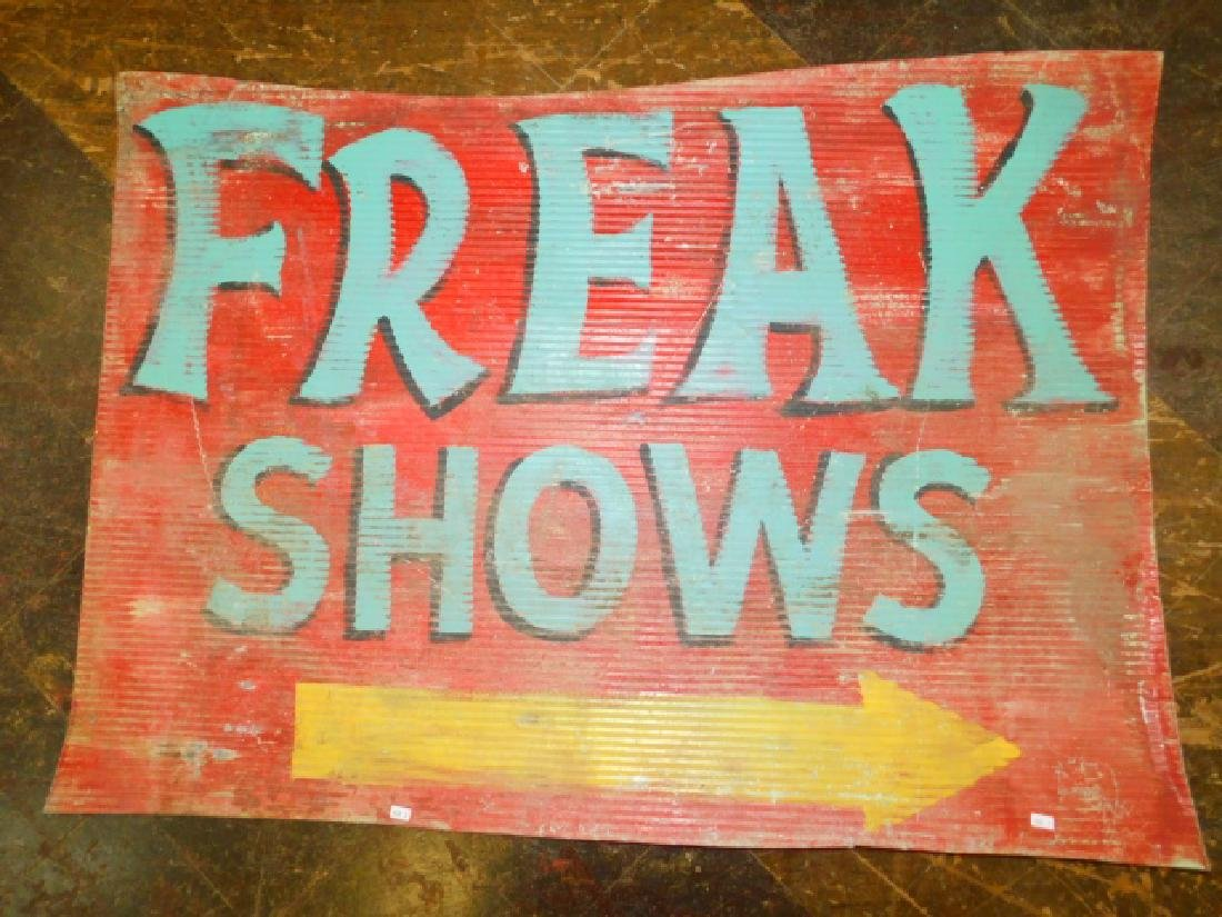 FREAK SHOWS TIN SIGN