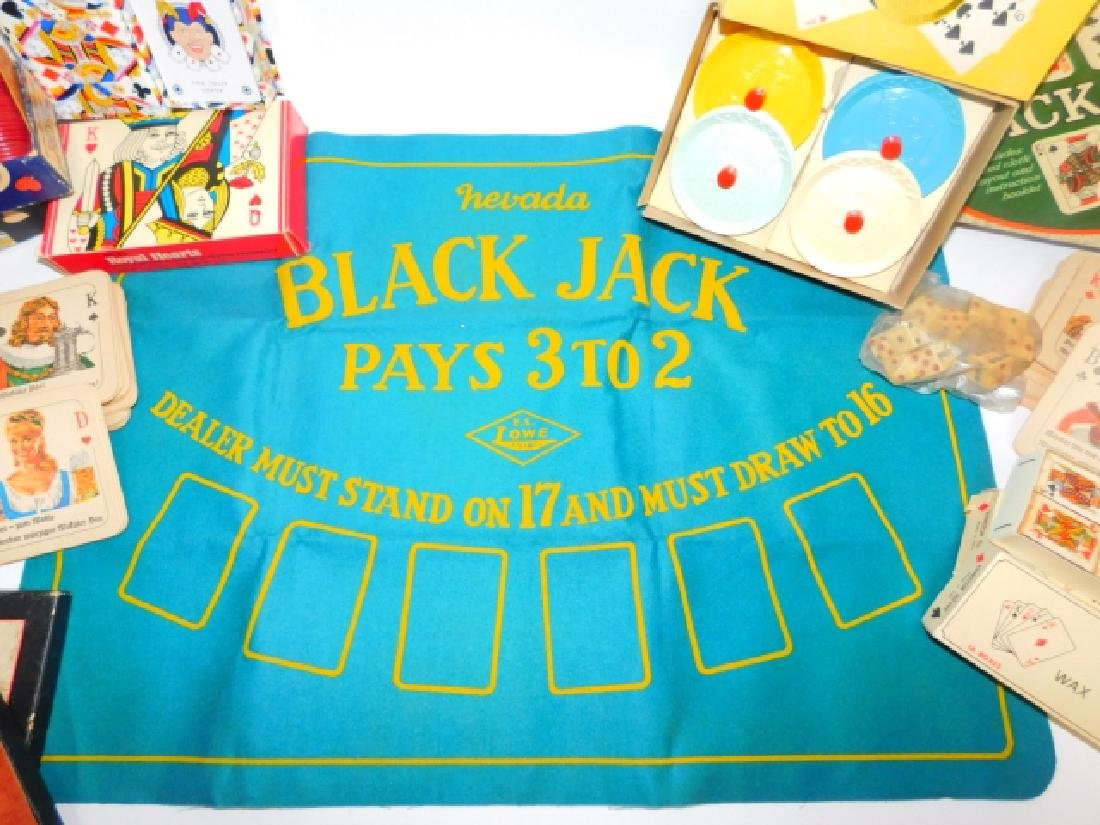BLACK JACK MAT, POKER CHIPS AND MORE - 2