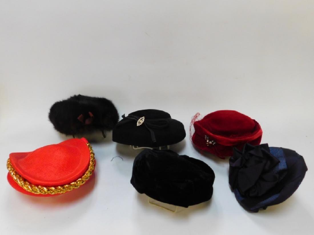 SIX WOMEN'S HATS