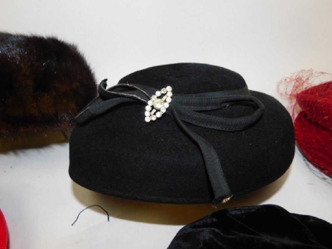 SIX WOMEN'S HATS - 4