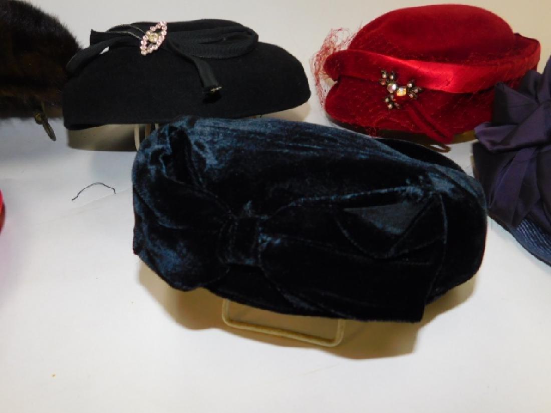 SIX WOMEN'S HATS - 5