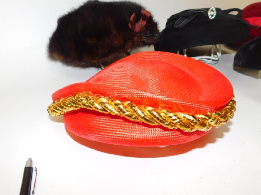 SIX WOMEN'S HATS - 7