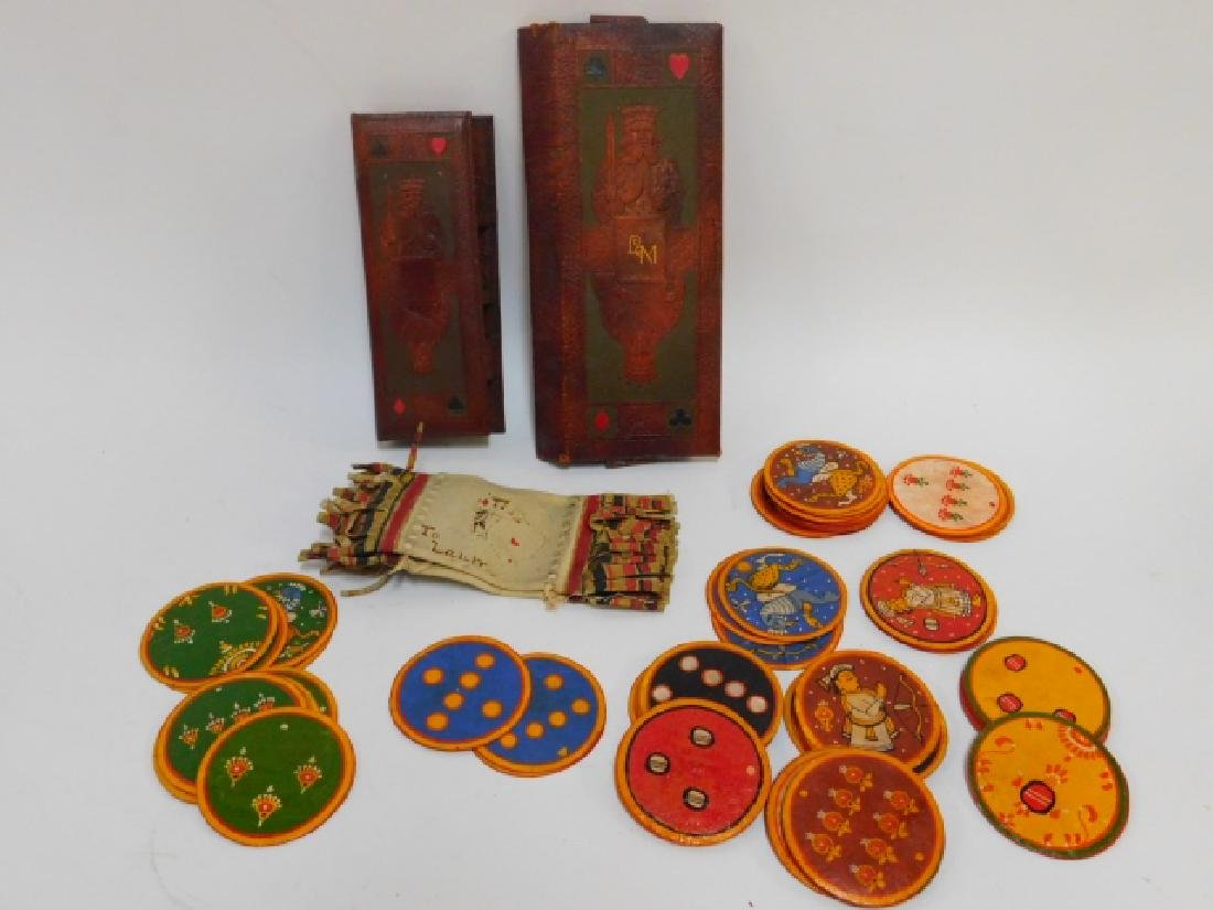GANJIFA PLAYING CARDS WITH CASES