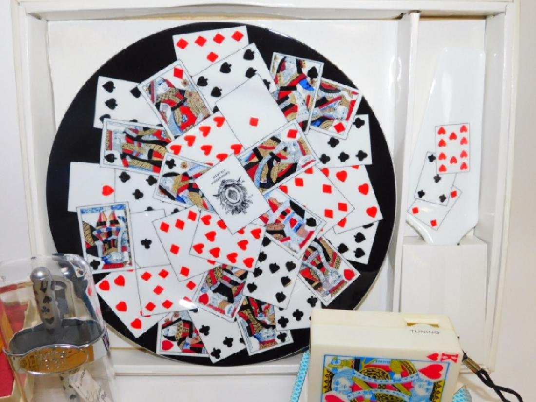 COLLECTION OF PLAYING CARD DISHES, SOAPS, AND MORE - 2