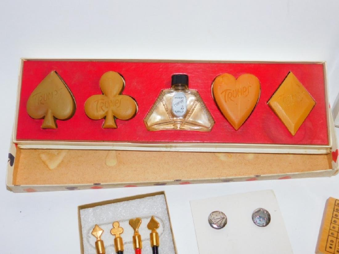 COLLECTION OF PLAYING CARD DISHES, SOAPS, AND MORE - 4