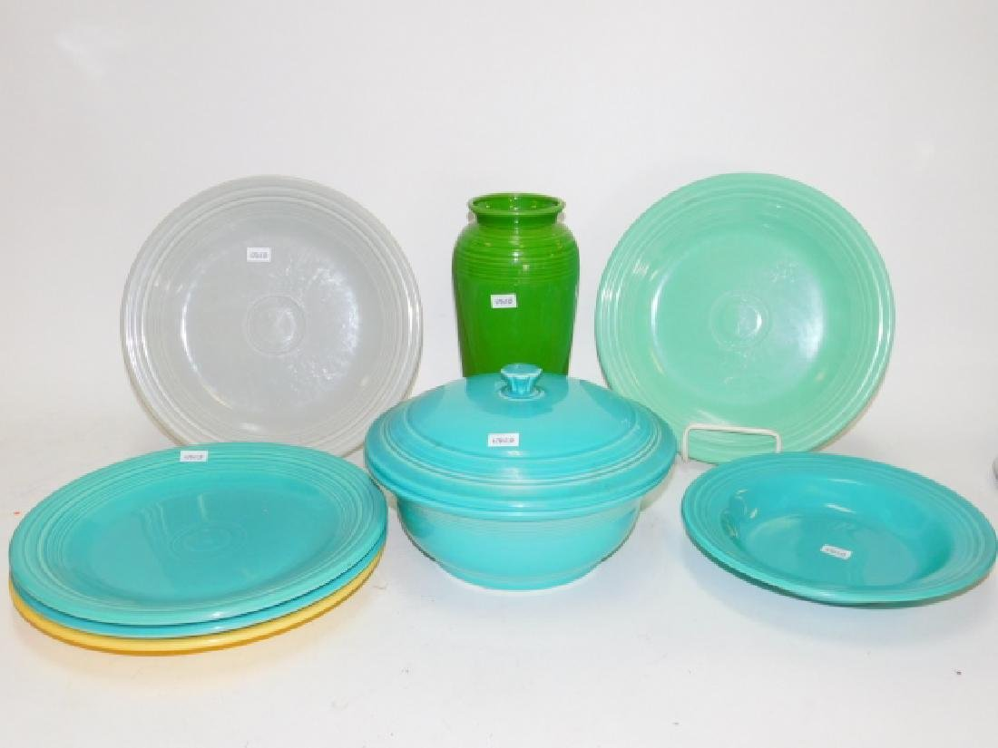 FIESTA WARE DISHES AND VASE