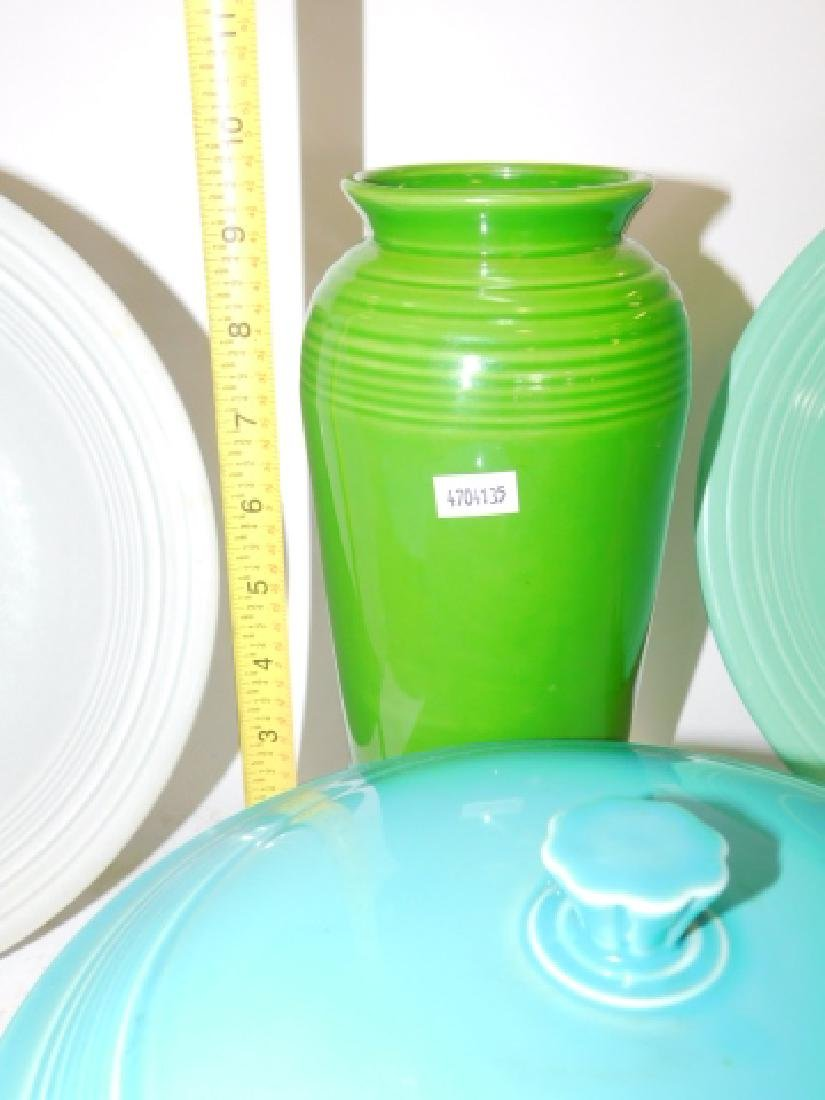 FIESTA WARE DISHES AND VASE - 2