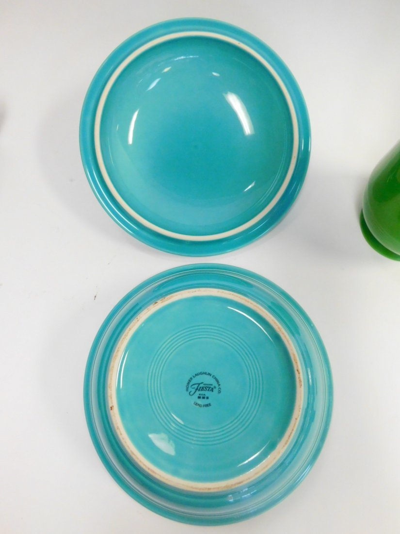 FIESTA WARE DISHES AND VASE - 6