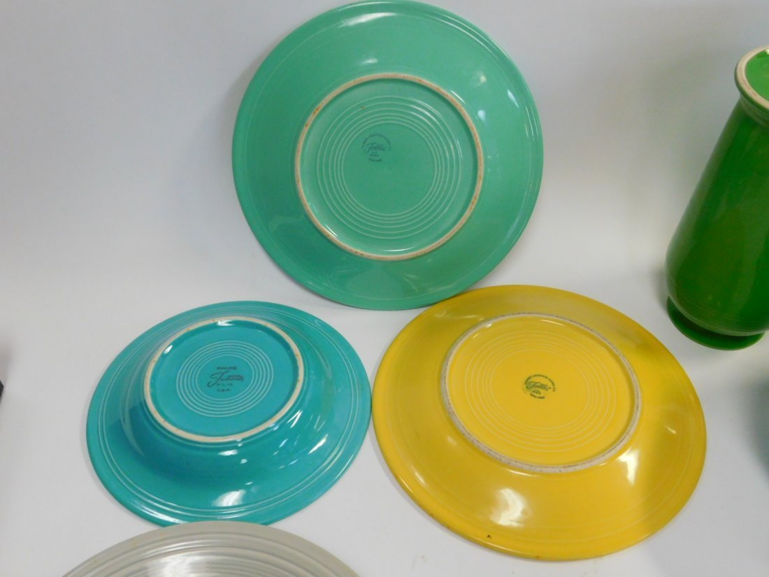 FIESTA WARE DISHES AND VASE - 7