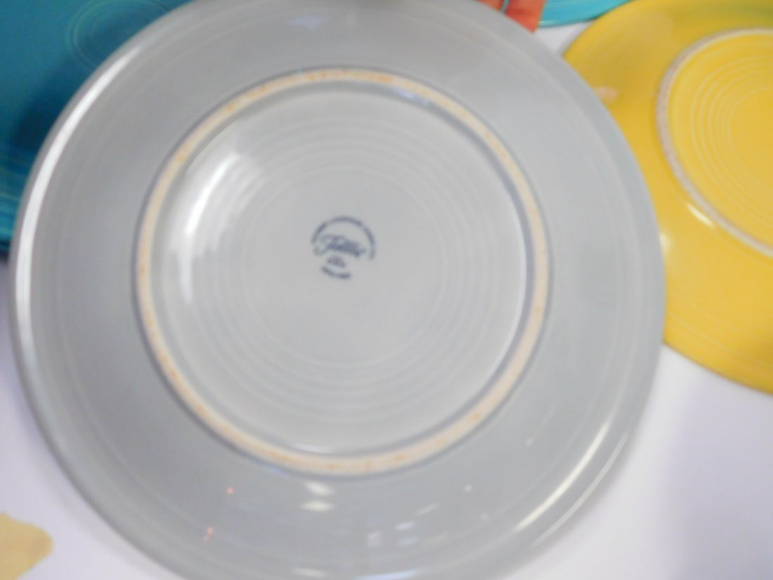 FIESTA WARE DISHES AND VASE - 8