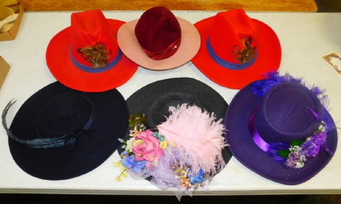 SIX WOMEN'S HATS