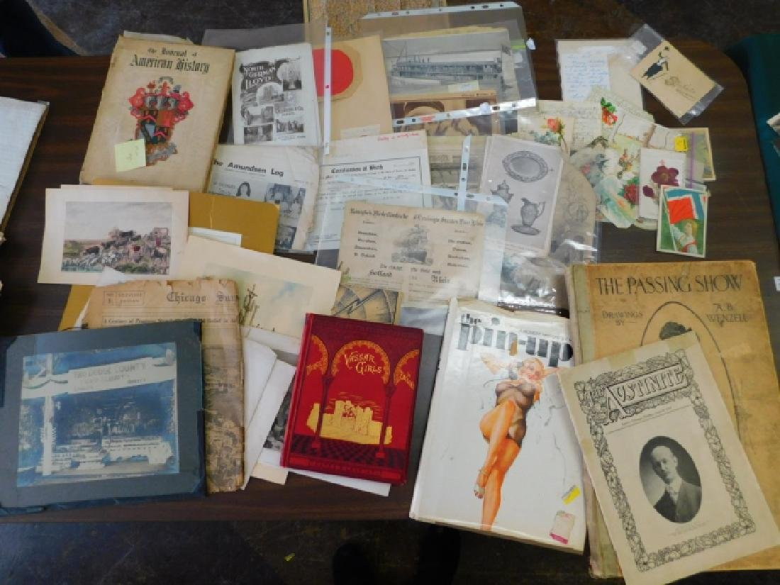 COLLECTION OF POSTCARDS, BOOKS, POSTERS, AND MORE