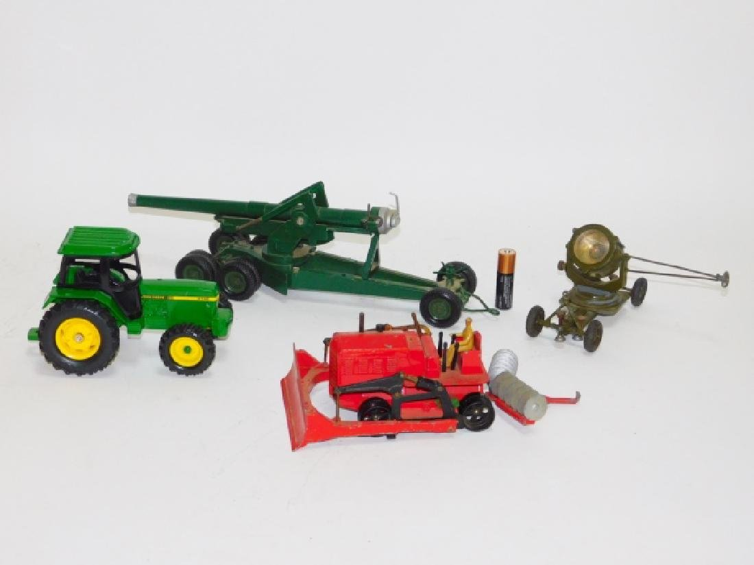 COLLECTION OF TRACTORS AND CANNON TOY'S