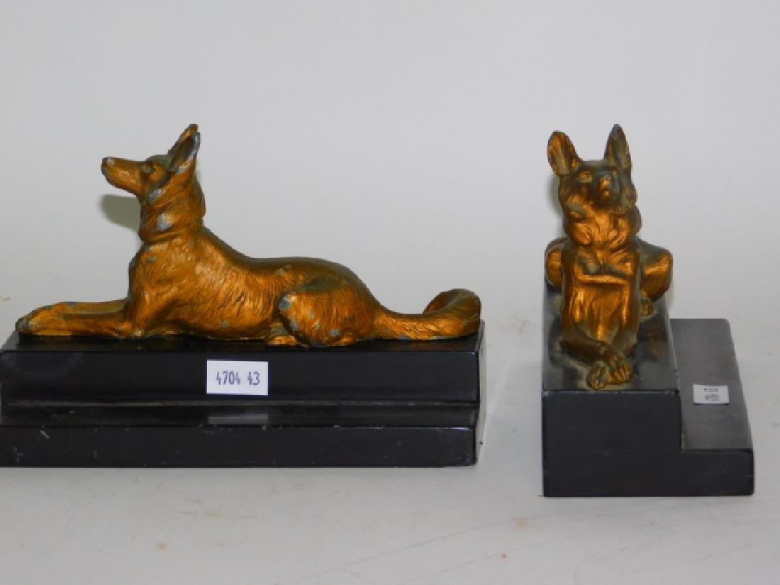 METAL GERMAN SHEPARD BOOKENDS