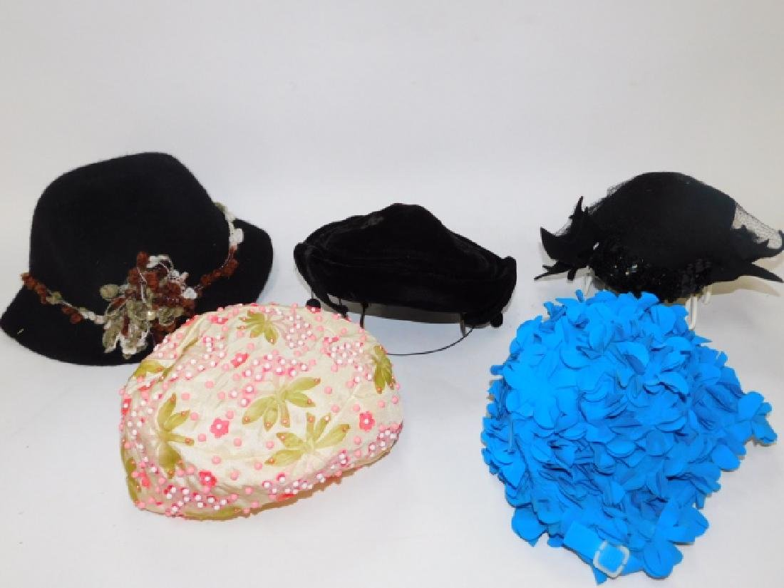 FIVE WOMEN'S HATS