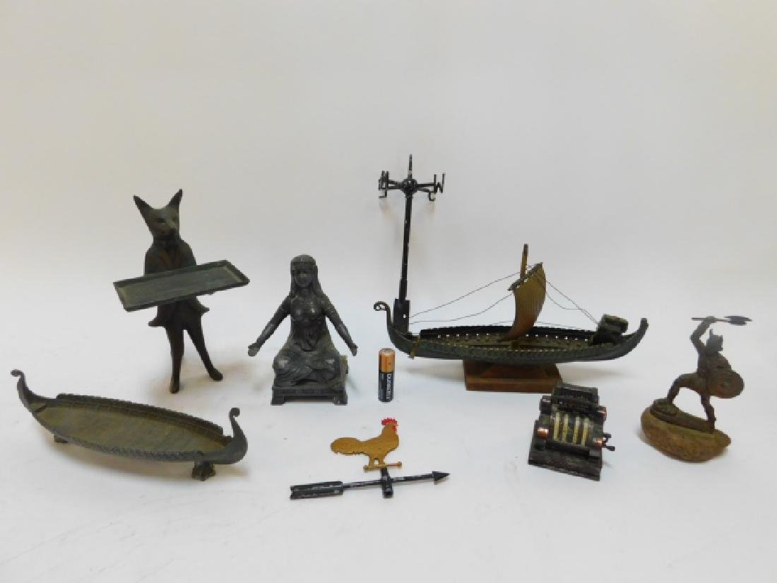 COLLECTION OF IRON FIGURES AND SHIPS