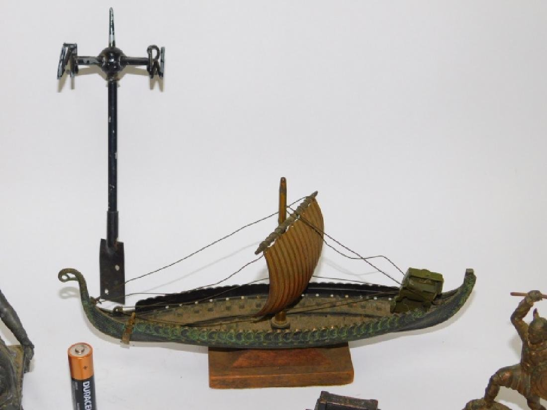 COLLECTION OF IRON FIGURES AND SHIPS - 3
