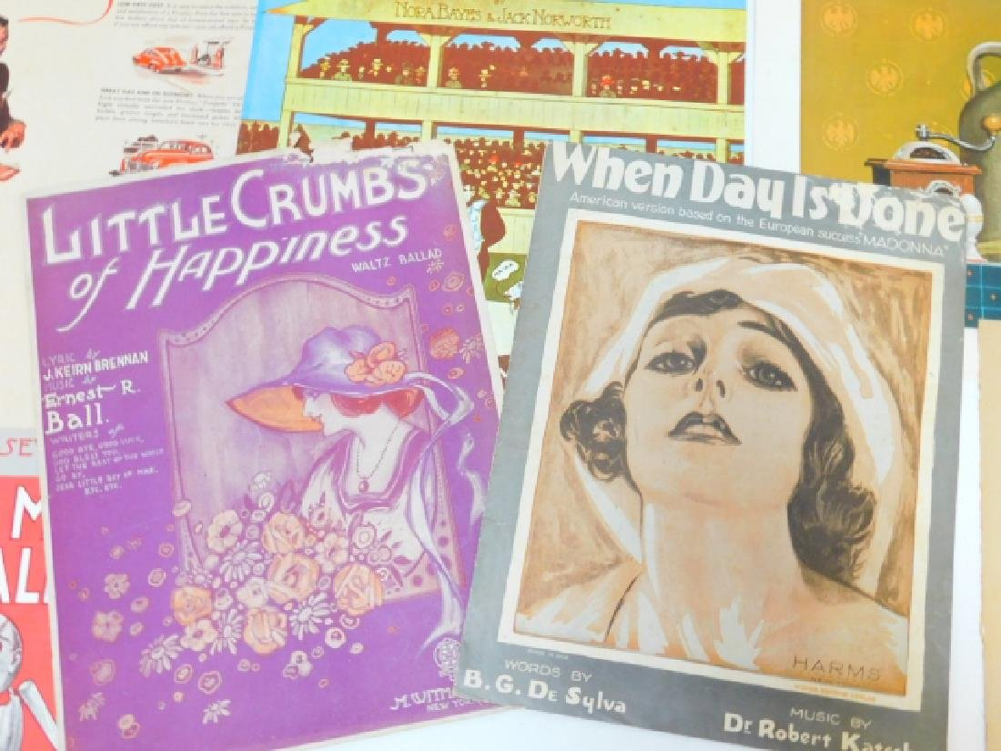 COLLECTION OF PRINTS, ADVERTISEMENTS, MUSIC SHEETS - 5