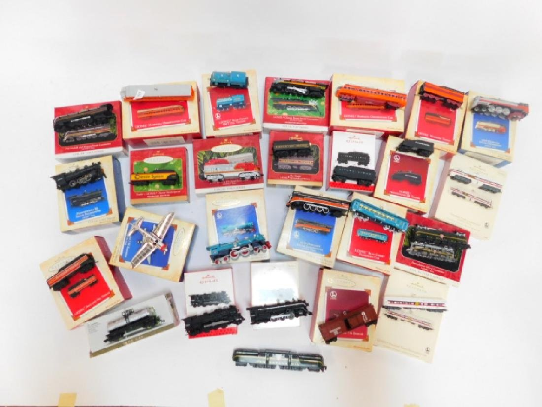 HALLMARK TRAIN CAR ORNAMENT COLLECTION - 3
