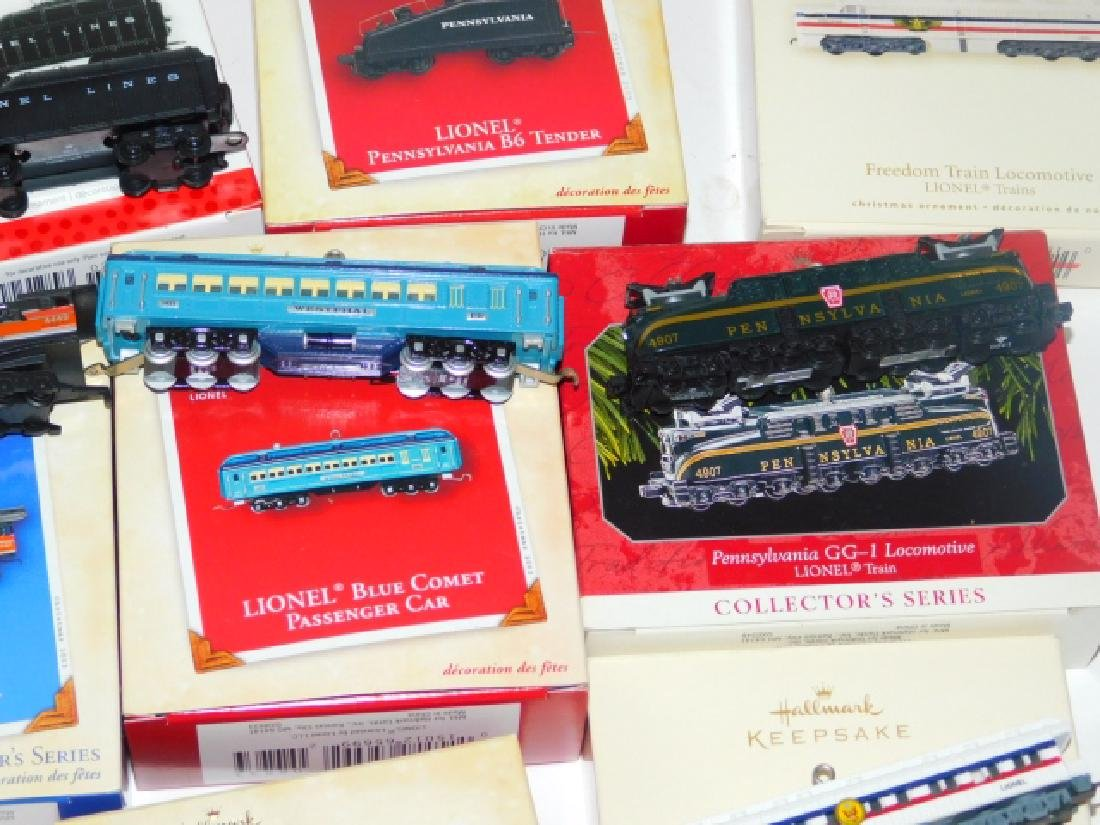 HALLMARK TRAIN CAR ORNAMENT COLLECTION - 4