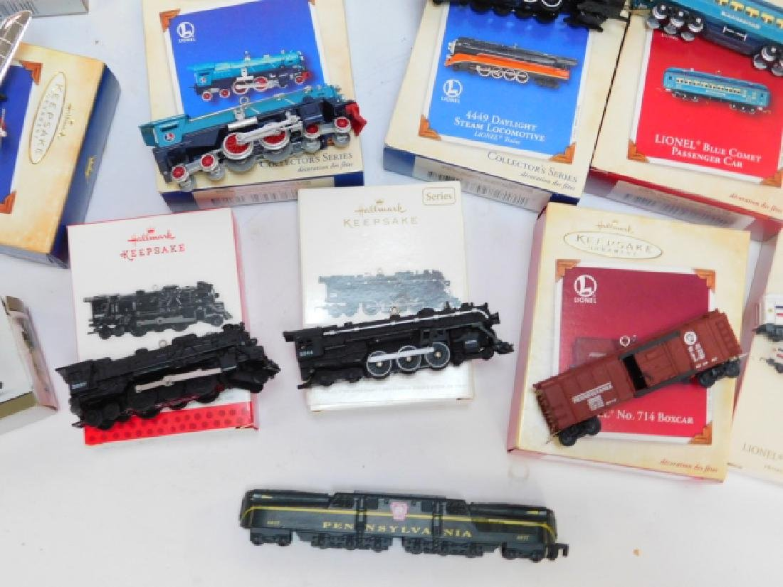 HALLMARK TRAIN CAR ORNAMENT COLLECTION - 6