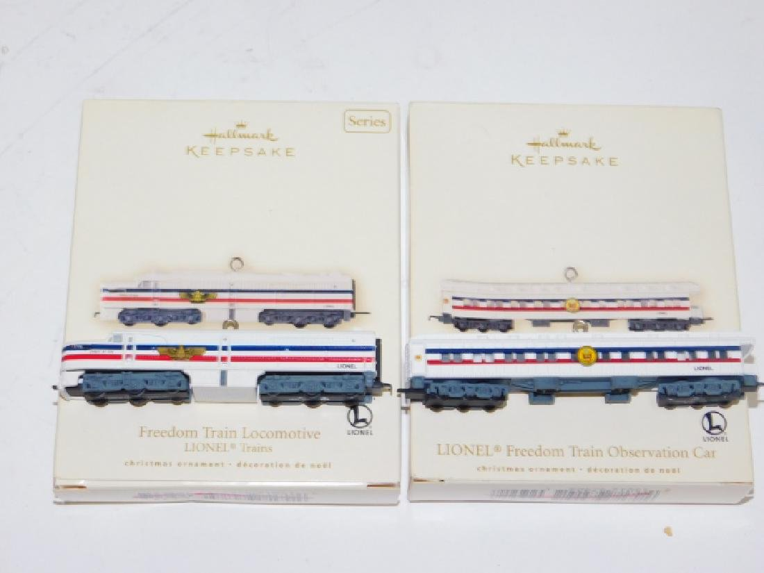 HALLMARK TRAIN CAR ORNAMENT COLLECTION - 7