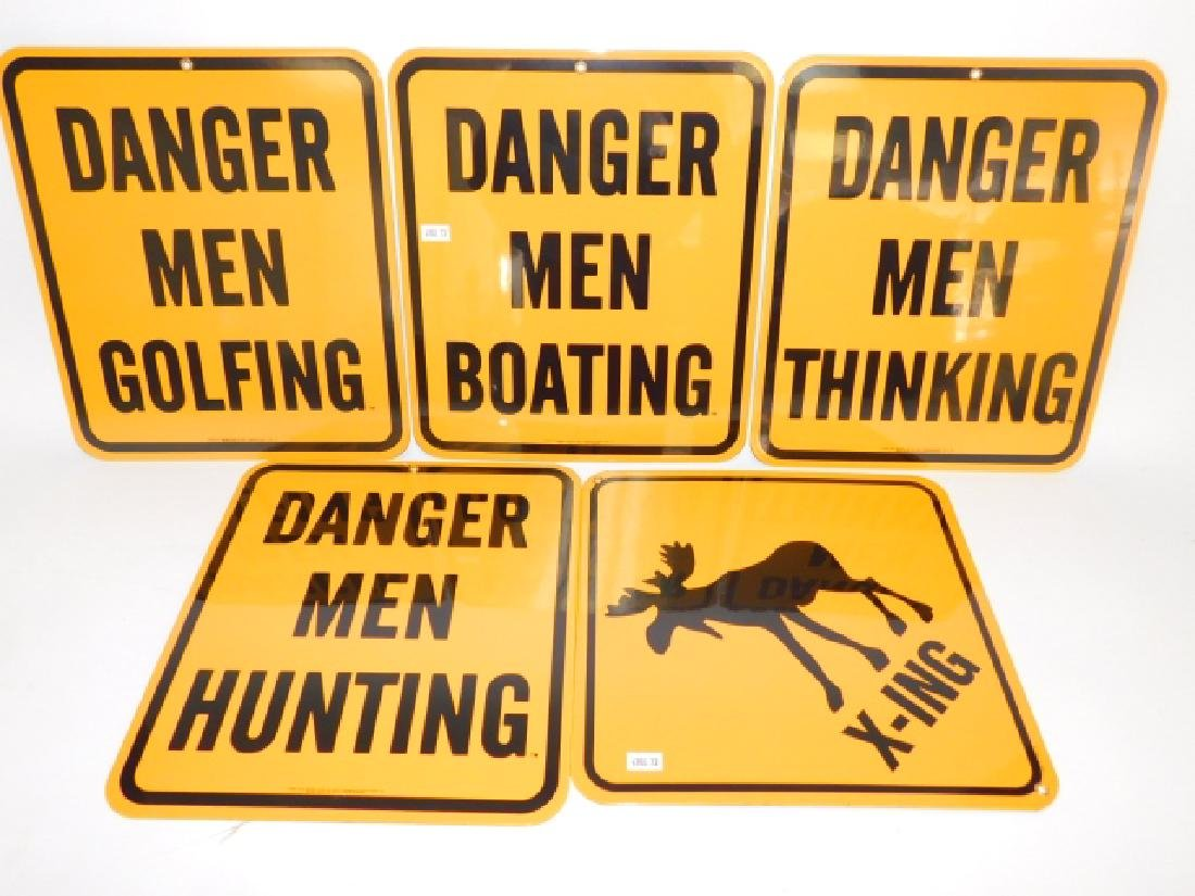 FOUR METAL SIGNS