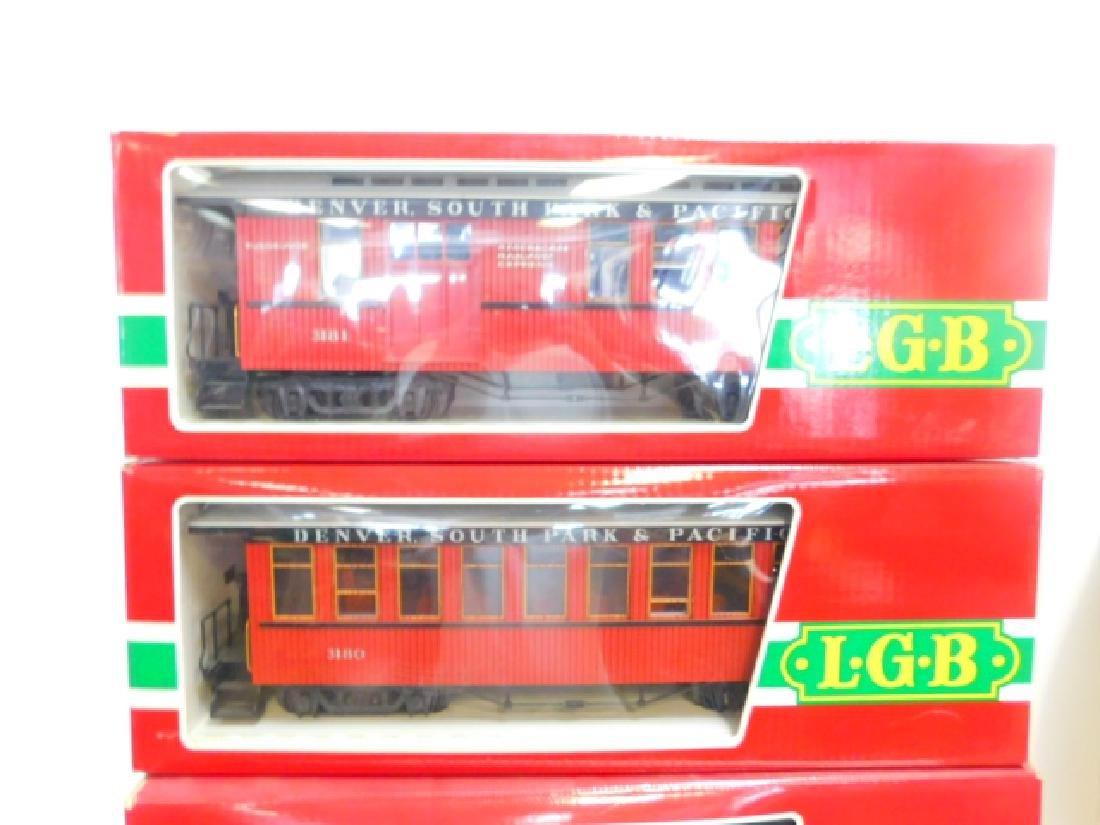 FOUR LGB TRAIN CARS