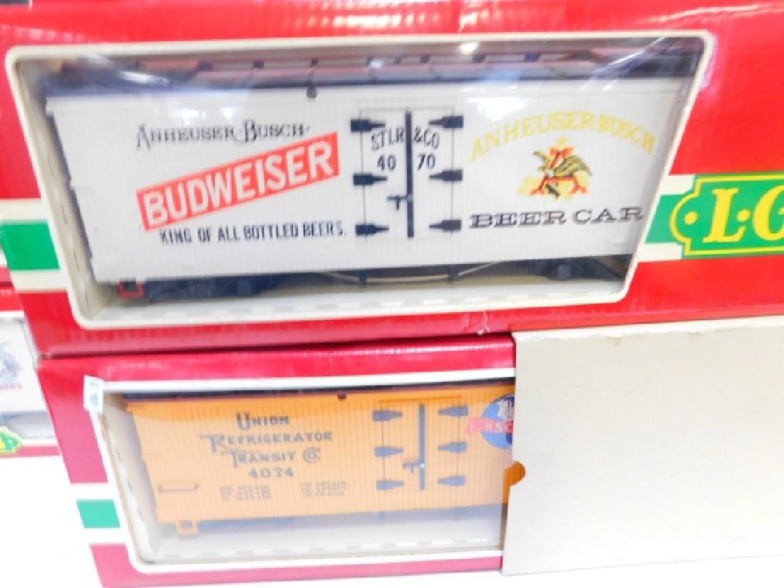 LGB BUDWEISER, PABST, COORS, MILLER TRAIN CARS - 4