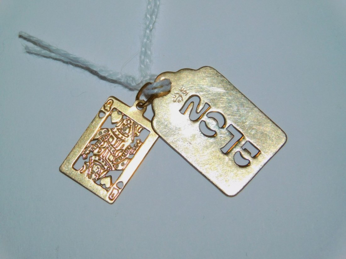 TWO 14K GOLD PENDANTS