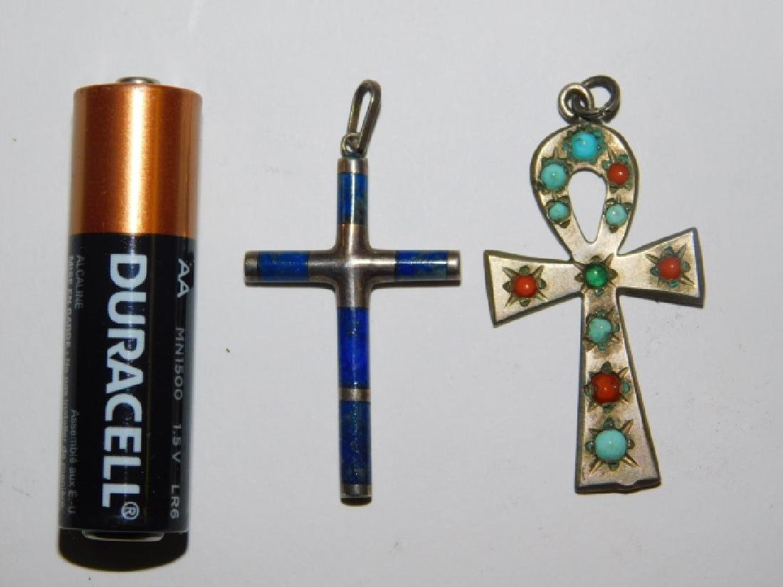 TWO DESIGNER CROSS PENDANTS