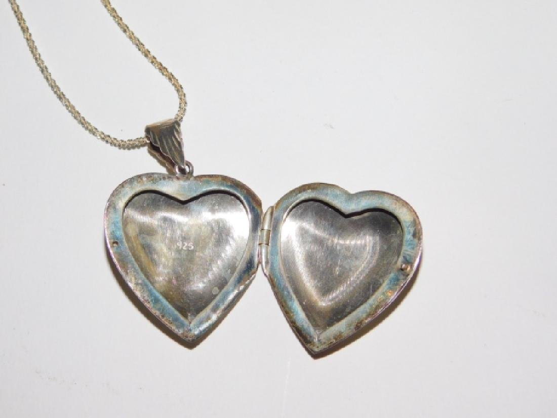 STERLING SILVER NECKLACE WITH LOCKET - 2