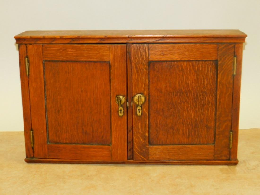 TWO DOOR OAK WALL CABINET