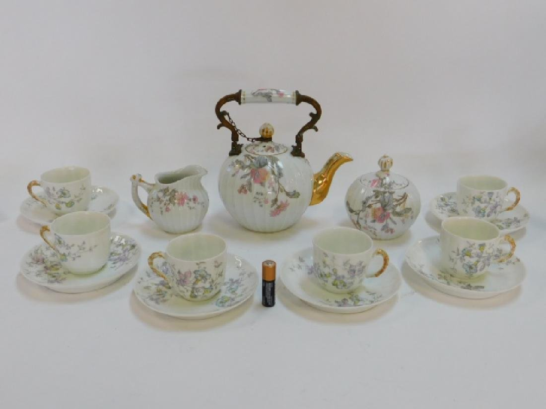 FRENCH PAINTED TEA SET