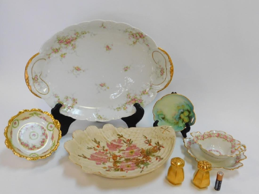 COLLECTION OF HAND PAINTED DISHES