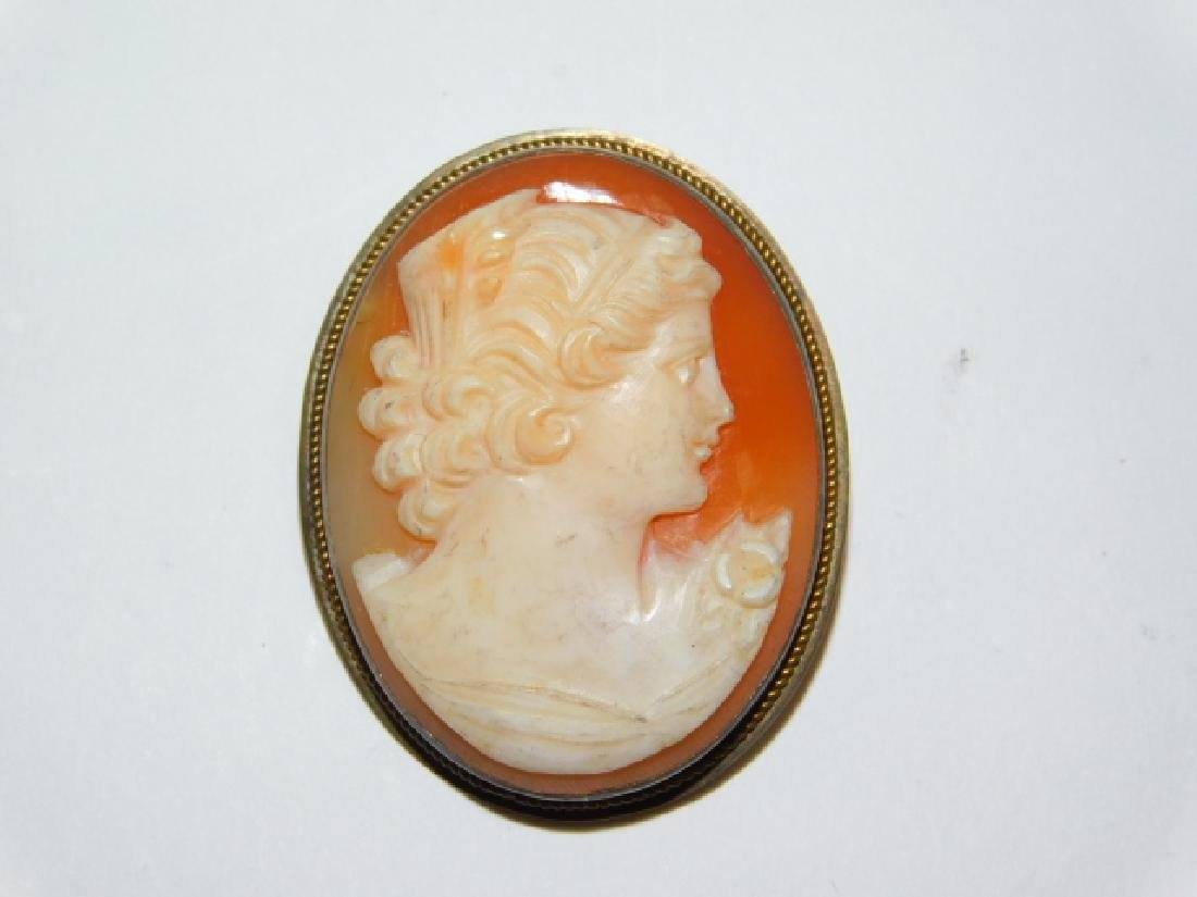 STERLING SILVER CAMEO PIN