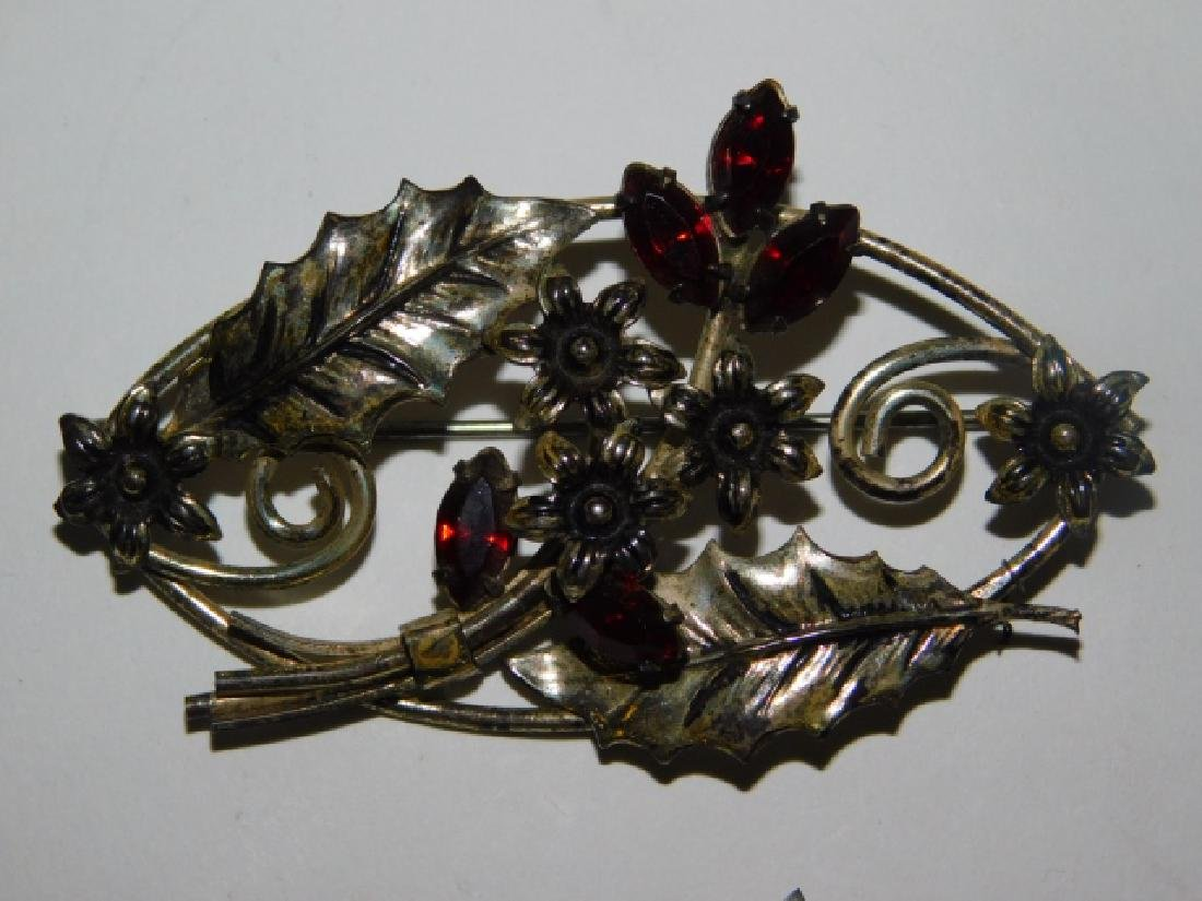 FIVE STERLING SILVER PINS - 3