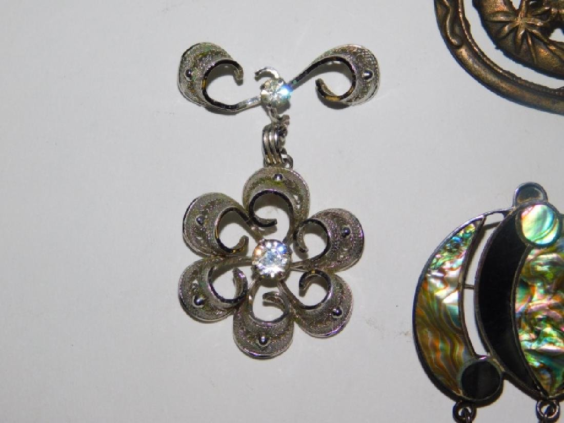 FIVE STERLING SILVER PINS - 5