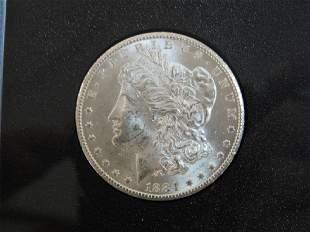 1884 CARSON CITY SILVER DOLLAR COIN