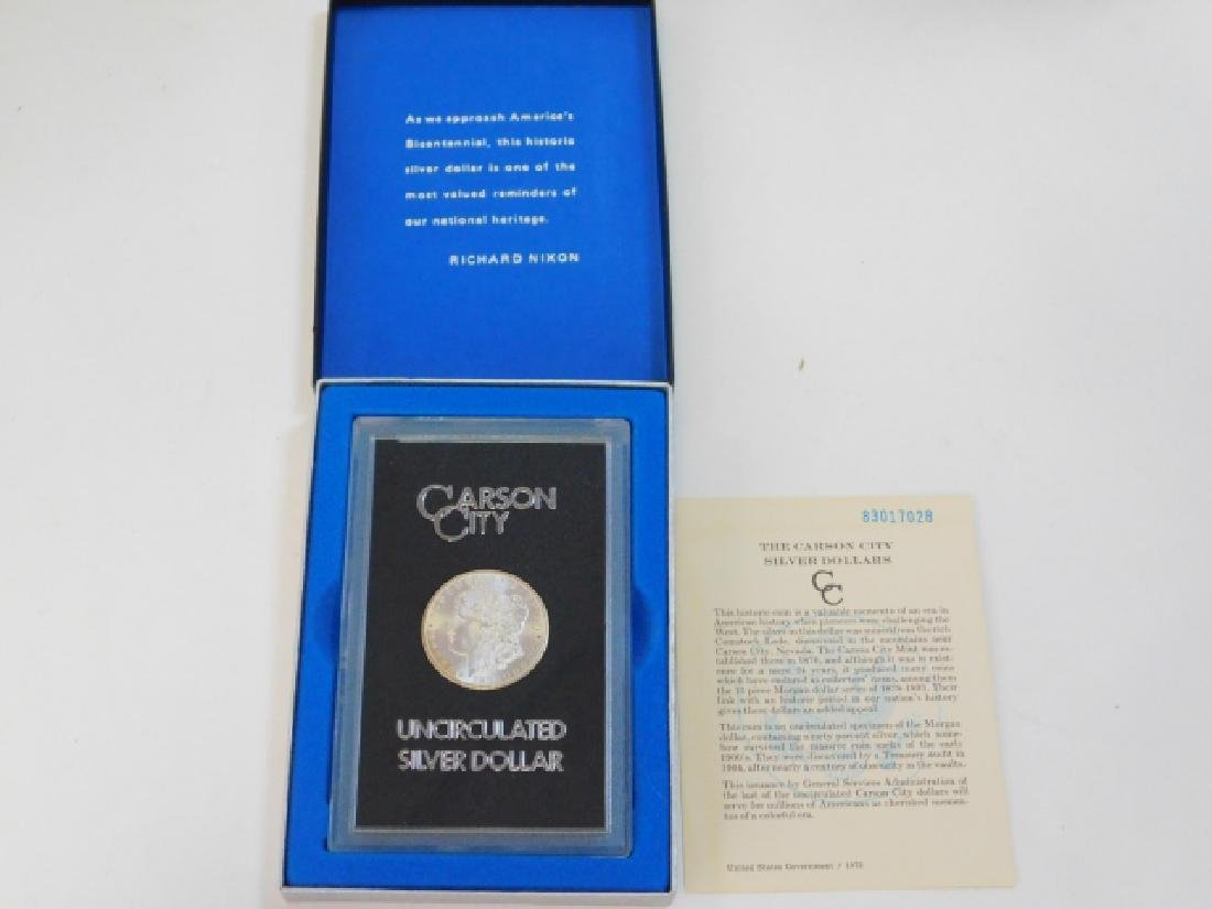 1884 CARSON CITY SILVER DOLLAR COIN - 3