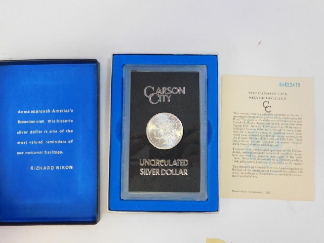 1883 CARSON CITY SILVER DOLLAR COIN - 3