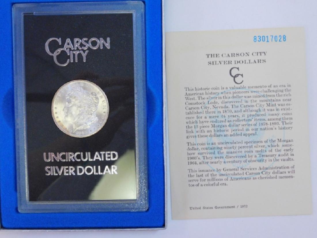 1882 CARSON CITY SILVER DOLLAR COIN - 3