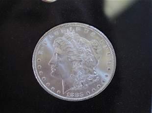 1883 CARSON CITY SILVER DOLLAR COIN