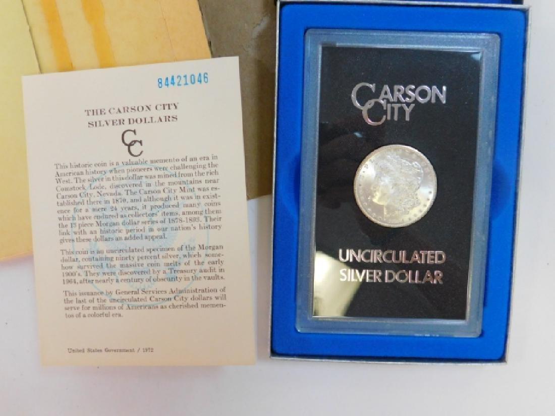 1884 CARSON CITY SILVER DOLLAR COIN - 4
