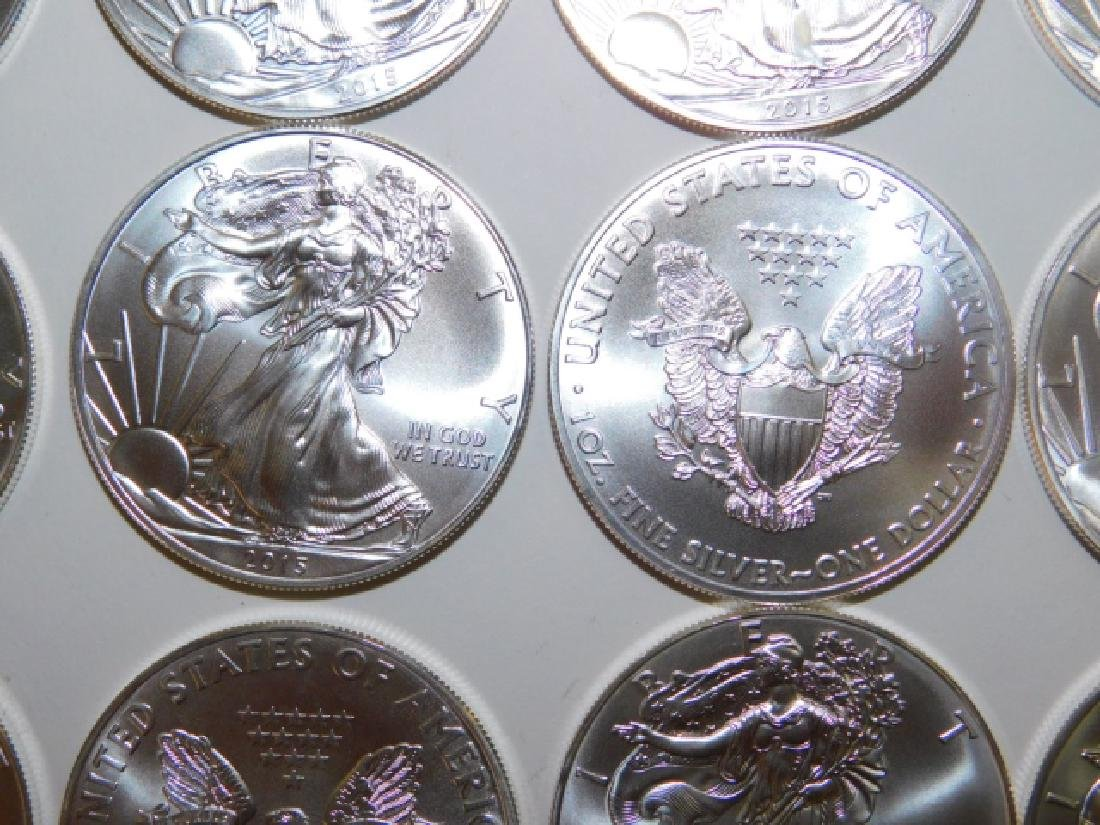 20 ONE OUNCE WALKING LIBERTY EAGLE SILVER COINS - 4