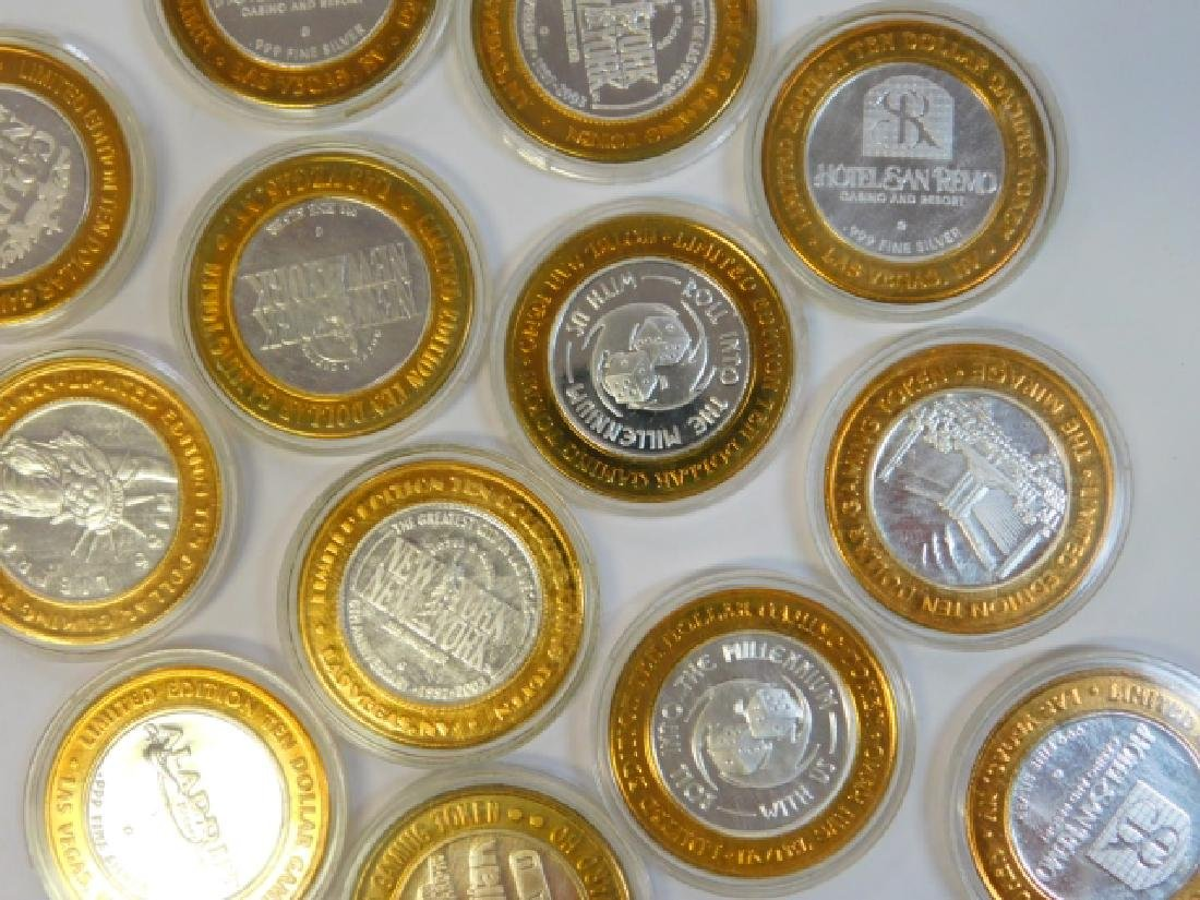 13 LAS VEGAS HOTEL 1/6TH OF AN OUNCE SILVER COINS - 3