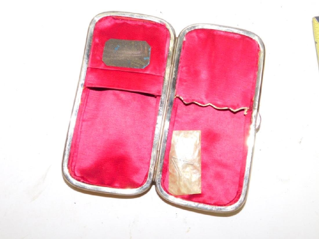 SILVER INLAID BURLED WOOD CIGARETTE CASE - 5